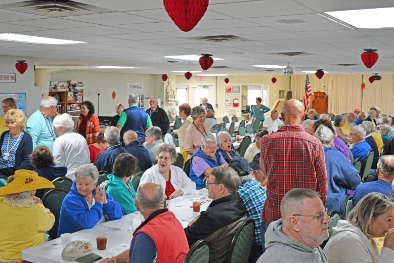 Residents at Strawberry Social